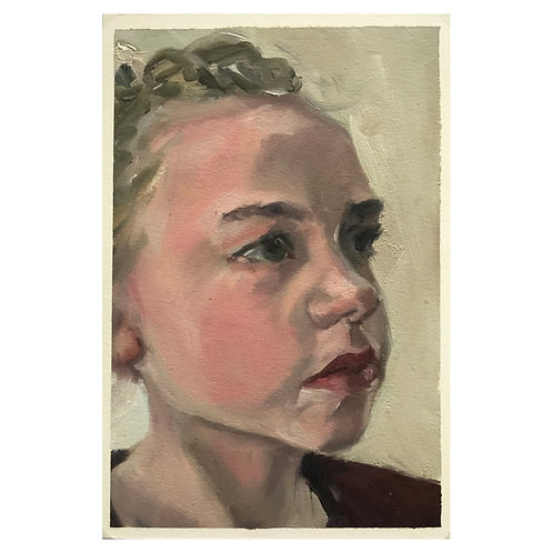 Frida - Head Study - Oil On Arches Oil Paper