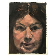 Vickie - Head Study - Oil on Arches Oil
