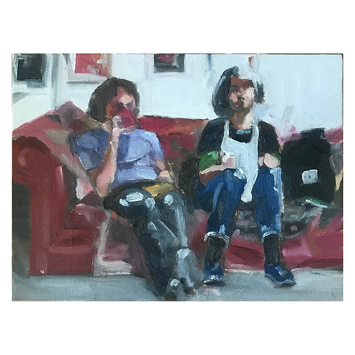 National Treasures - Grayson and Philippa Perry - Oil on Canvas Board