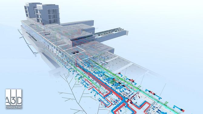 Imagen de modelado BIM de Hospital del Mar en Barcelona