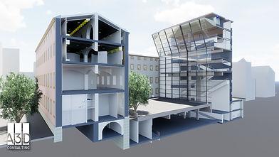 Imagen de modelado BIM del centre de cultura contemporània de Barcelona