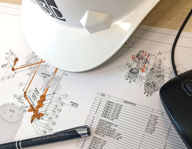 Documentación de piping ; La documentación enfocada al piping de una industria farmacéutica tiene que ser correcta, clara y construible. Desarrollamos una metodología propia con soporte de programación para generar toda la documentación específica.   En A3D contamos con experiencia real documentando piping, incluyendo por ejemplo planos isométricos BIM que se actualizan con el avance del modelado y de los esquemas técnicos.