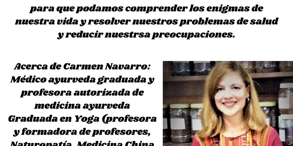 """Luna nueva: meditación y Pranayama, charla impartida por Carmen Navarro """"La propuesta de vida Ayurveda"""""""