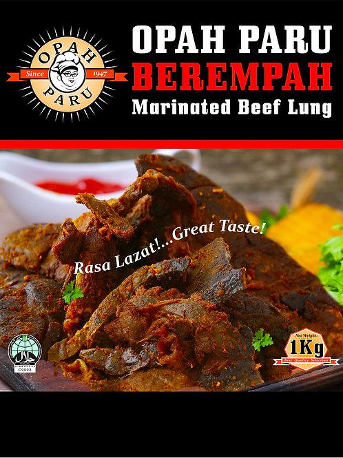 Paru Berempah (Marinated Beef Lungs)