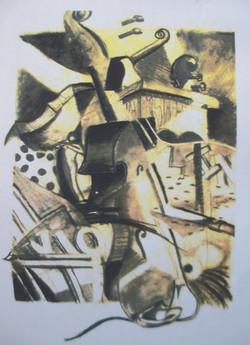 Pencil & charcoal