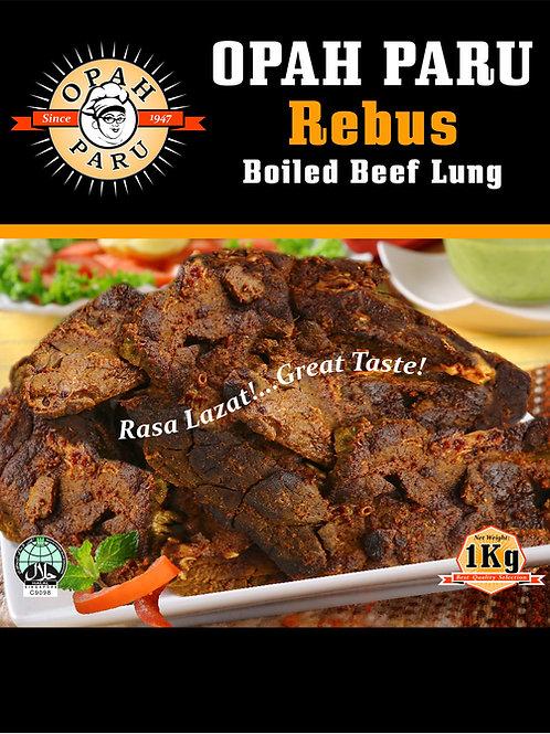 Paru Rebus (Boiled Beef Lungs)