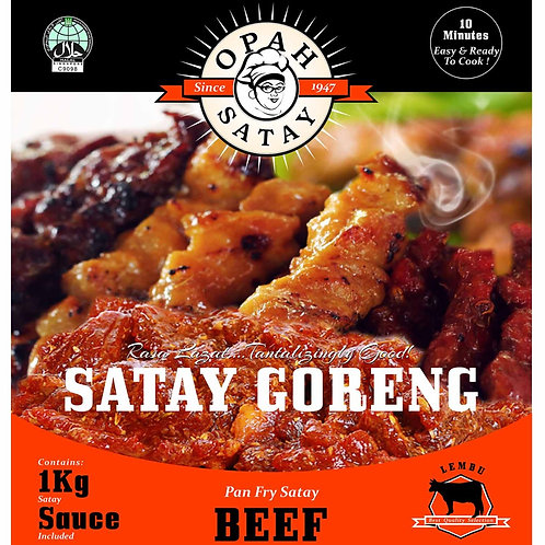 Beef Satay Goreng (Pan-Fry Satay) 1kg + 500gm Gravy