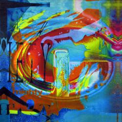 Shout (2015) Acrylic & Ink