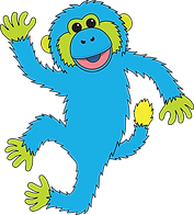 Blue Monkey 2 transparent.png