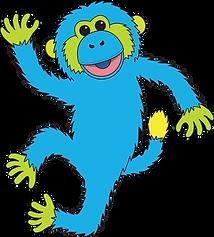 Blue Monkey 2 transparent.png