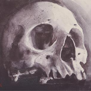 "SKULL FRESCO |  | Watercolor | Clay Board 8""X10"""