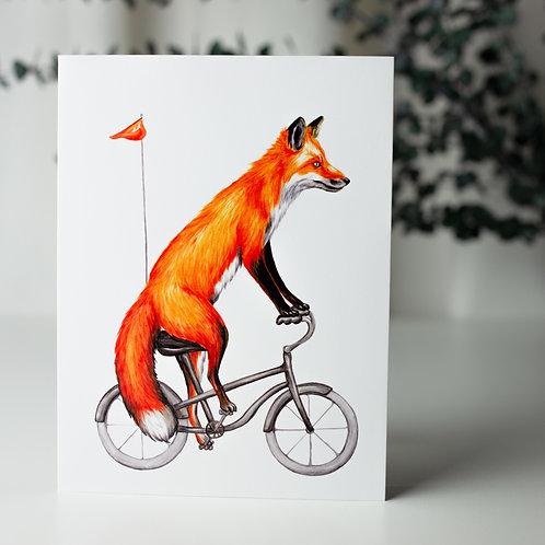 Renard à vélo - Carte