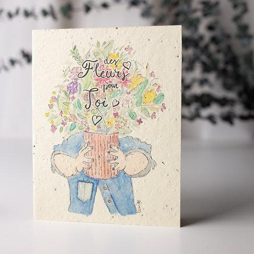 Fleurs - Carte