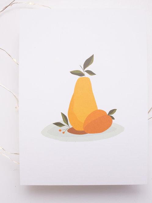 Pêche & Poire - illustration