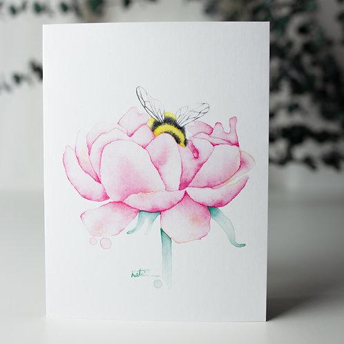 Pivoine bourdon - Carte