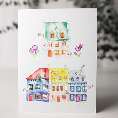 Maisons arc-en-ciel  - Carte