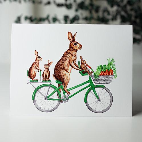 Lapin à vélo - Carte