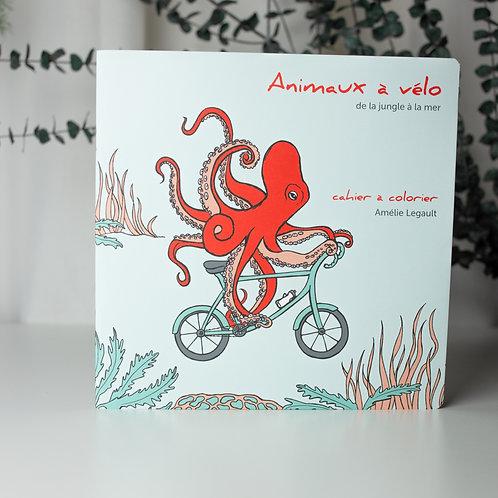Cahier à colorier - Animaux à vélo