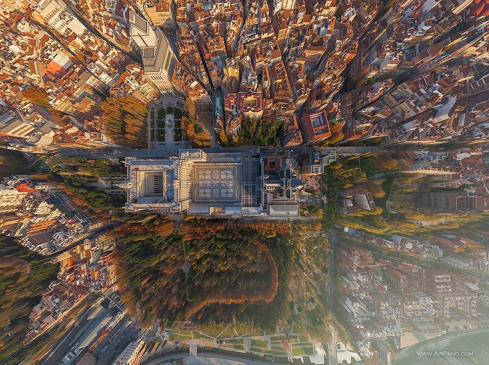The Royal Palace of Madrid. Photo credit: Airpano
