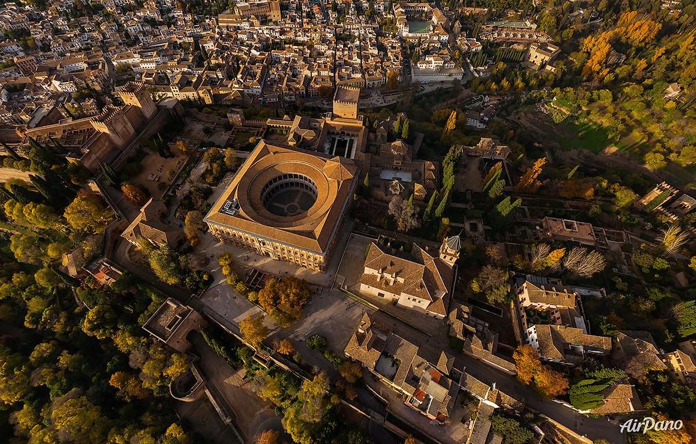 The Alhambra of Granada. Photo credit: Airpano