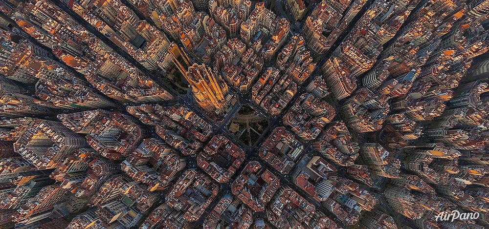 The Sagrada Familia of Barcelona. Photo credit: Airpano