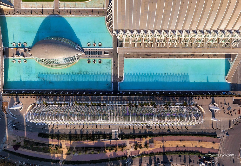 City of Arts and Sciences of Valencia: Photo credit: Airpano
