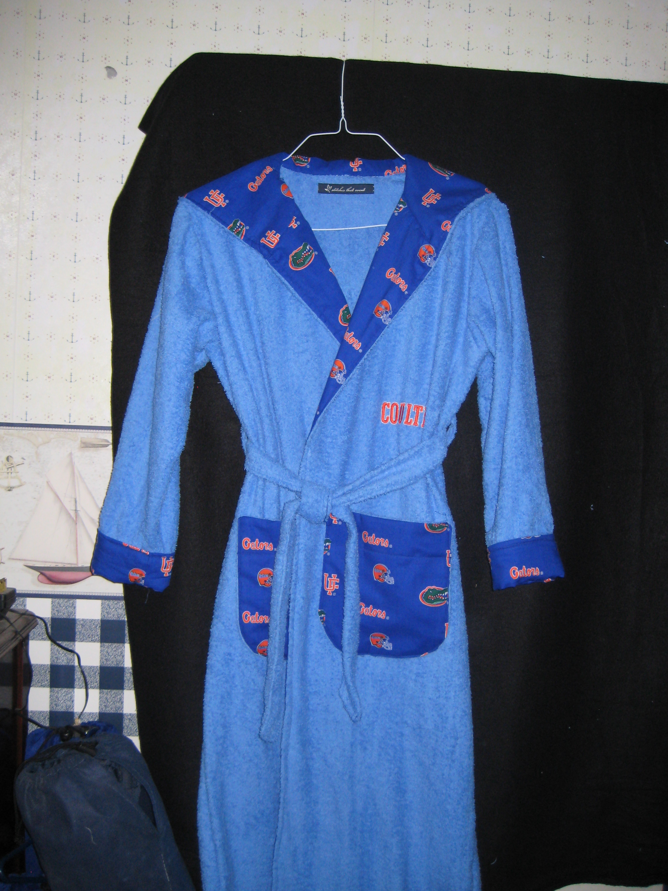 Gator bathrobe
