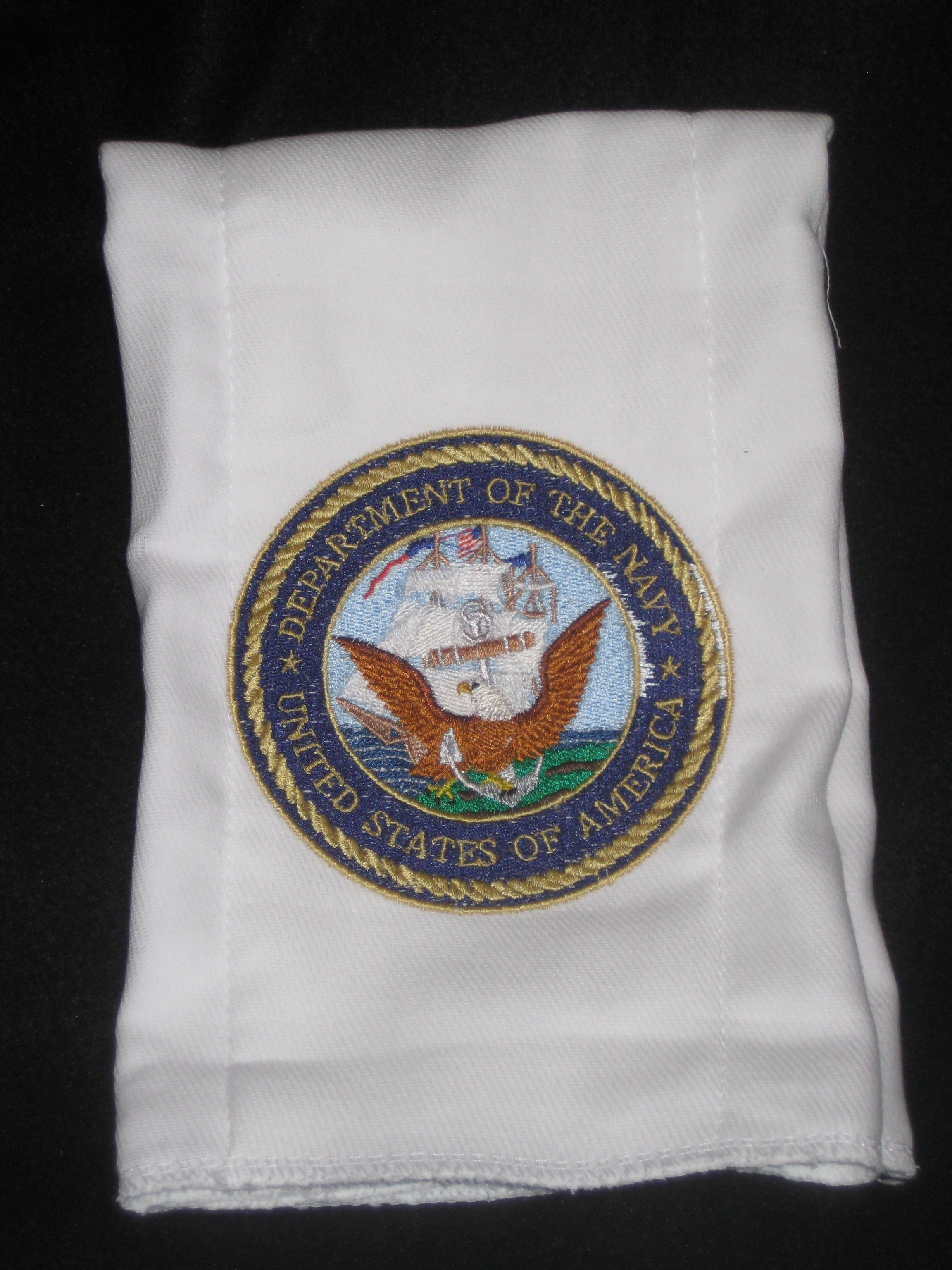 Navy burpcloth