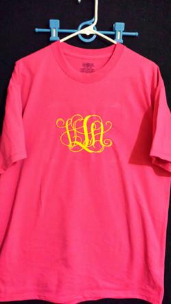 Large monogram tshirt