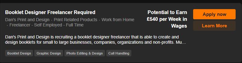 Booklet Design Freelancer Required