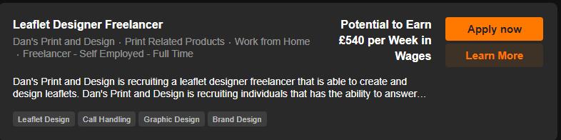 Leaflet designer vacancy freelancer scre