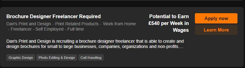 Brochure Designer Freelancer Required