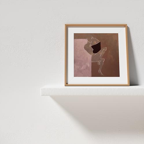 lilac rust print