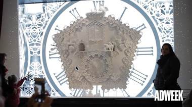Adweek - the making of bloomingdales Christmas window