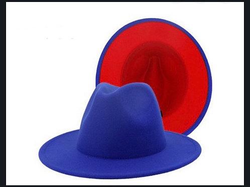 Royal Blue Red Bottom Fedora