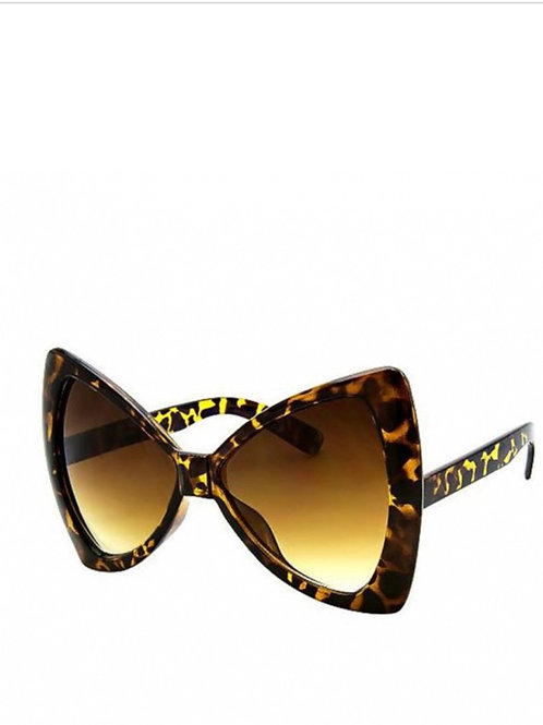 Tortoiseshell Oversized  70's Bow Sunglasses