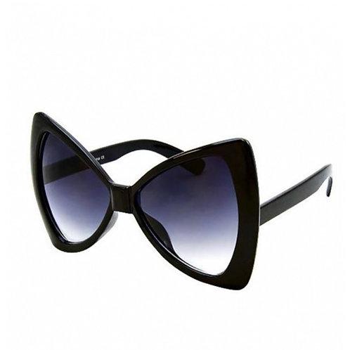 Black Oversized70's  Bow Sunglasses