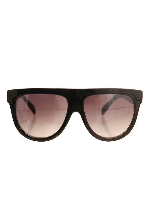 Black Rounded Retro Sunglasses