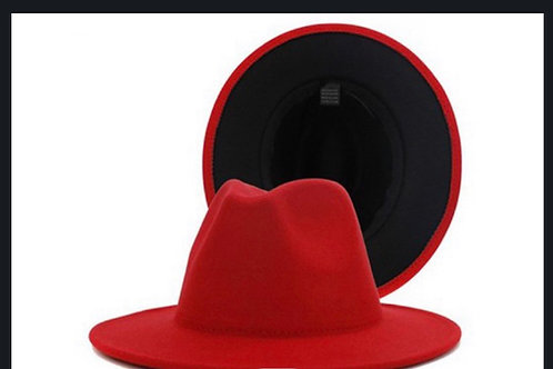 Red Bottom Fedora Hat