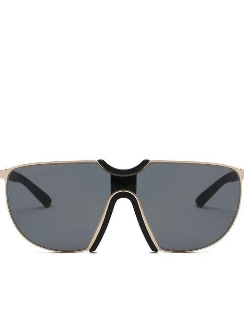 Retro Black Oversized Aviator Special Sunglasses