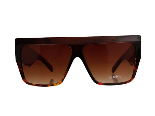 Brown Square 70's style  Wide Sunglasses