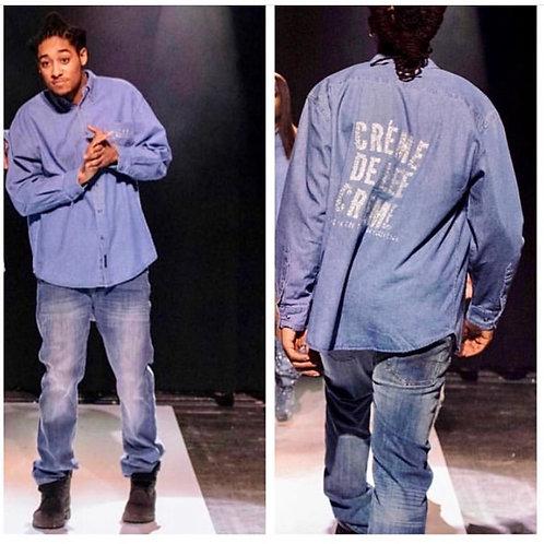 Créme De Lee Créme Men's Denim Button Up Shirt