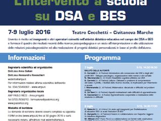 7-9 luglio Convegno BES/DSA