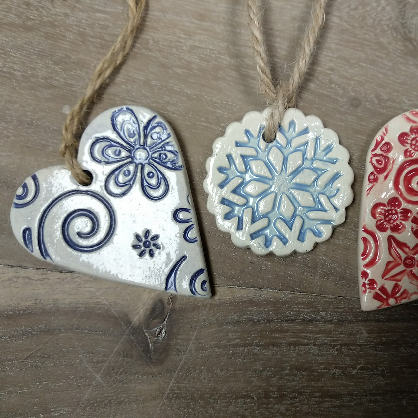 Textured Xmas Decorations £18