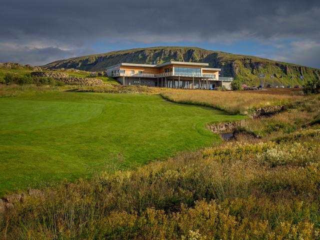 Iceland - Mosfellsbaer Golf - Golfklúbbur Mosfellsbæjar - Hlidavollur - Hlíðavöllur - clubhouse view 3