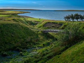 Iceland - Mosfellsbaer Golf - Golfklúbbur Mosfellsbæjar - Hlidavollur - Hlíðavöllur - gilið - 1st hole