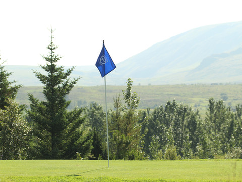 Iceland - Mosfellsbaer Golf - Golfklúbbur Mosfellsbæjar - Bakkakot - 4th green