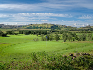 Iceland - Mosfellsbaer Golf - Golfklúbbur Mosfellsbæjar - Bakkakot - 1st green