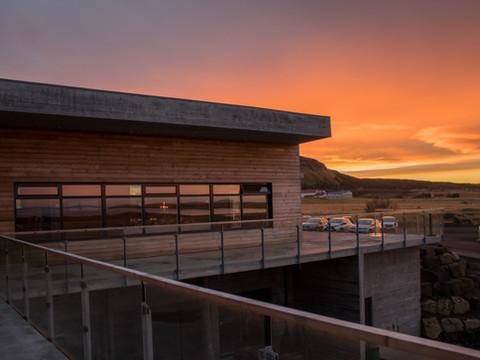 Iceland - Mosfellsbaer Golf - Golfklúbbur Mosfellsbæjar - Hlidavollur - Hlíðavöllur - clubhouse sunrise 1