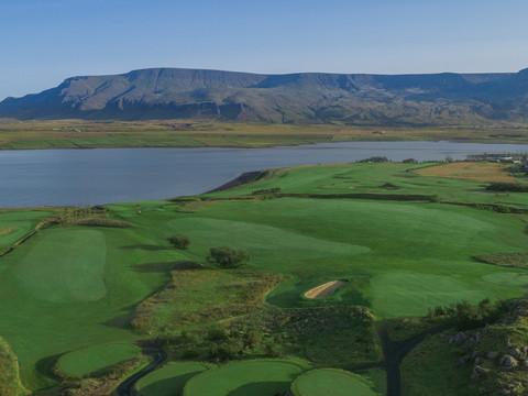 Iceland - Mosfellsbaer Golf - Golfklúbbur Mosfellsbæjar - Hlidavollur - Hlíðavöllur - aerial 2